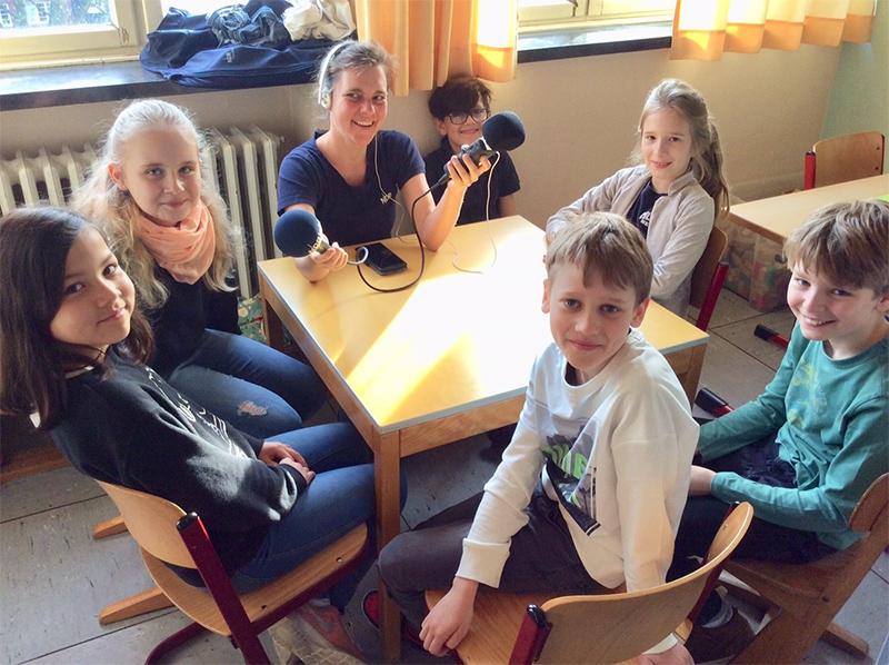 Eimsbütteler Grundschüler sprechen Kindernachrichten