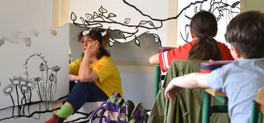 Fünftklässler erleben Theater im Klassenzimmer