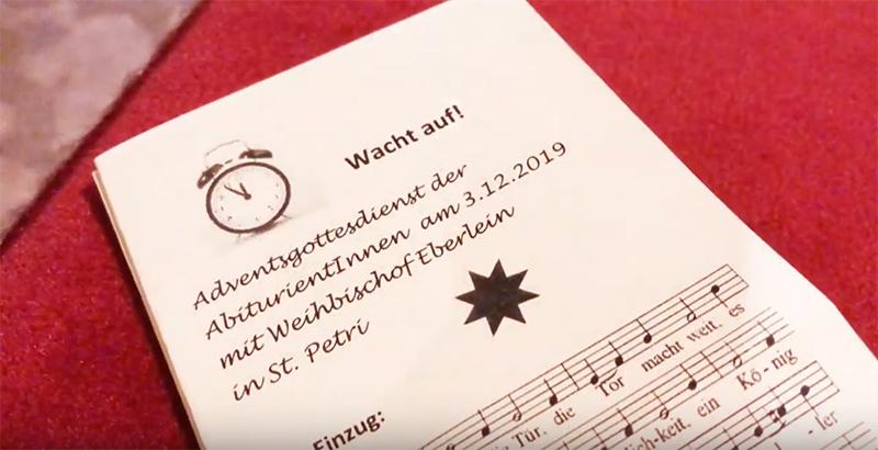 Gottesdienst angehender Abiturient_innen mit Weihbischof Eberlein