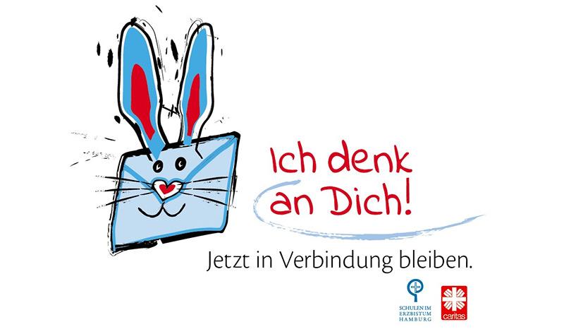 """""""Ich denk an Dich!"""" - Caritas und katholische Schulen starten Gruß-Aktion"""