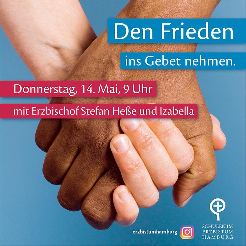 DO 14. Mai, 9 Uhr: Friedensgebet auf Instagram