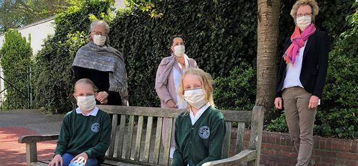 """""""Sitzen ganz gut"""" – Selbstgenähte Masken für Blankeneser Grundschüler"""