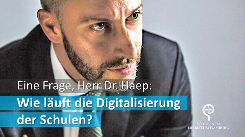 """Eine Frage, Herr Dr. Haep: """"Wie läuft die Digitalisierung an den Schulen?"""""""