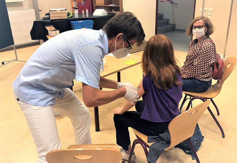 Impfungsangebot an der Sophie-Barat-Schule