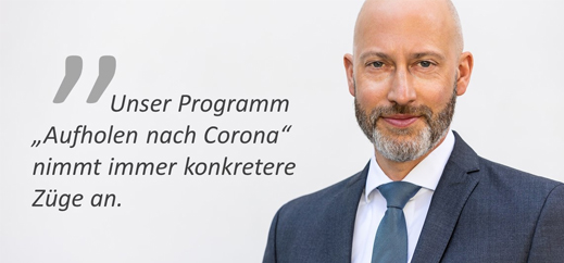 "Programm ""Aufholen nach Corona"" nimmt konkrete Züge an"